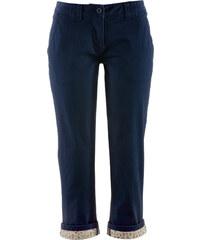 bpc bonprix collection Pantalon extensible 3/4 chino teneur en Lycra bleu femme - bonprix