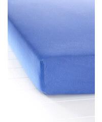 bpc living Drap-housse Jersey First Class bleu maison - bonprix