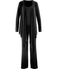 bpc bonprix collection Ensemble de relaxation 3 pièces et sa pochette noir femme - bonprix
