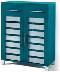 bpc living Armoire 2 portes et 2 tiroirs Ted, avec 2 portes bleu maison - bonprix