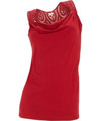 BODYFLIRT Top rouge sans manches Près du corps femme - bonprix