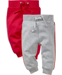 bpc bonprix collection Lot de 2 pantalons sweat bébé gris enfant - bonprix