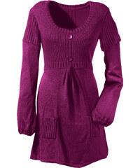 BODYFLIRT Pull long violet manches longues femme - bonprix