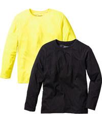 bpc bonprix collection T-shirts manches longues jaune enfant - bonprix