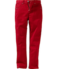 John Baner JEANSWEAR Pantalon en twill slim fit, normal rouge enfant - bonprix