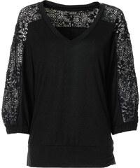 T-shirt manches 3/4 noir femme - bonprix
