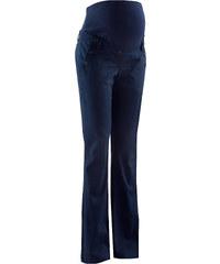 Pantalon de grossesse avec boutons, Bootcut bleu femme - bonprix