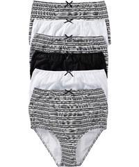bpc selection Slips taille haute (lot de 6) noir lingerie - bonprix