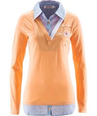 John Baner JEANSWEAR Sweat-shirt style 2 en 1 orange manches longues femme - bonprix