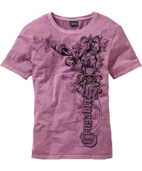 RAINBOW T-shirt Slim Fit violet manches courtes homme - bonprix
