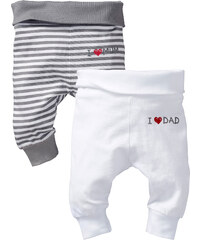 bpc bonprix collection Lot de 2 pantalons bébé blanc enfant - bonprix