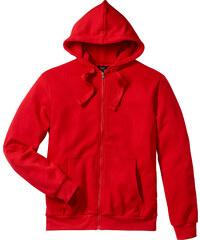 bpc bonprix collection Gilet sweat-shirt à capuche Regular Fit rouge manches longues homme - bonprix