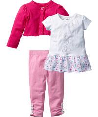 bpc bonprix collection Boléro + T-shirt + legging (Ens. 3 pces.) fuchsia courtes/longues enfant - bonprix