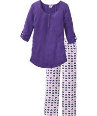 """bpc bonprix collection Pyjama d""""allaitement (Ens. 2 pces.) blanc manches 3/4 femme - bonprix"""