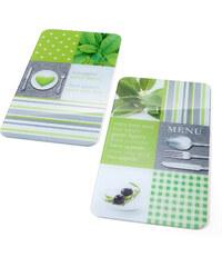 bpc living Plaques de protection Menu (Ens. 2 pces.) vert maison - bonprix