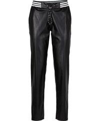 RAINBOW Pantalon synthétique imitation cuir noir femme - bonprix