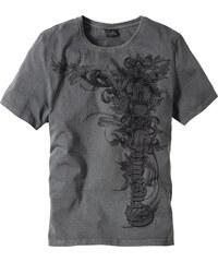 RAINBOW T-shirt Slim Fit gris manches courtes homme - bonprix