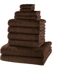 bpc living Serviettes de toilette New Uni (Ens. 10 pces.) marron maison - bonprix