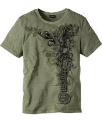 RAINBOW T-shirt Slim Fit vert manches courtes homme - bonprix