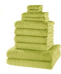 bpc living Serviettes de toilette New Uni (Ens. 10 pces.) vert maison - bonprix
