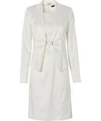 BODYFLIRT Tailleur robe + blazer (Ens. 2 pces.) blanc femme - bonprix