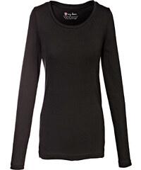 bpc bonprix collection T-shirt col rond manches longues noir femme - bonprix