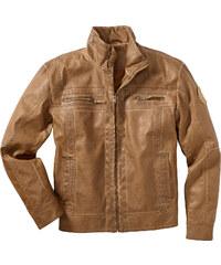 bpc bonprix collection Blouson synthétique imitation cuir marron manches longues homme - bonprix