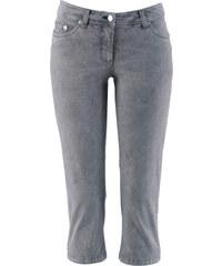 bpc bonprix collection Pantalon extensible 3/4 avec lycra gris femme - bonprix