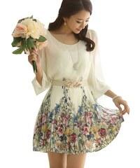 002 Elegantní letní šaty s květy