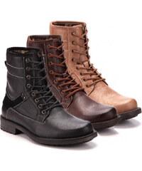 Lesara Herren-Boots - Khaki - 40