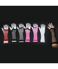 Lesara Netz-Armstulpen - Weiß - Design 1