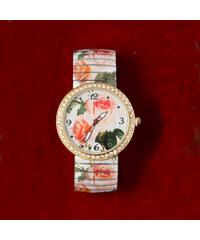 Lesara Damen-Armbanduhr mit Rosenmuster