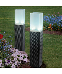 solarzauber Lot de 2 lampes solaires