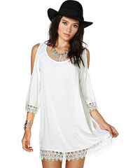 Lesara Sommerkleid im Hippie-Look - Weiß - S