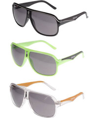 Lesara KMA Racer Shades Sonnenbrille - Schwarz