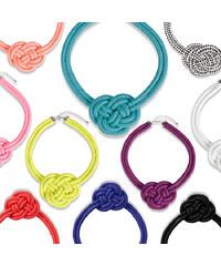 Lesara Statement-Halskette Knoten - Weiß
