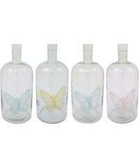 IB LAURSEN Skleněný svícen Butterfly - láhev velká Varianta C - zelený