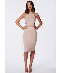 MISSGUIDED Semišová sukně Berryana