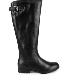Caprice - Vysoké kozačky na nízkém podpatku šíře G 9-25551-23 / černá