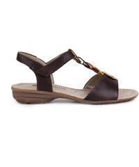 Remonte - Dámské sandály na suchý zip R3667-25 / hnědá
