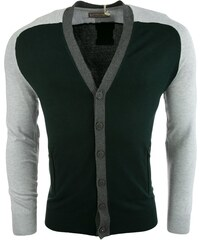 ALCOTT svetr cardigan block + zip F rayon