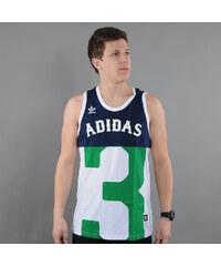 adidas B-Ball Jersey navy / bílý / zelený