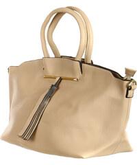 TopMode Velice módní dámská kabelka béžová