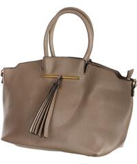 TopMode Velice módní dámská kabelka šedá