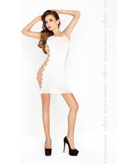 Erotické šaty Passion BS026 bílá, bílá