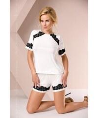 Dámské pyžamo Passion PY011 ecru, krémová