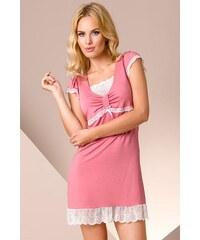 Noční košilka Passion PY002 old-pink, růžová - staro