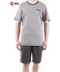 Pánské pyžamo Moraj PDM 3200-002 grafit, šedá - tmavě