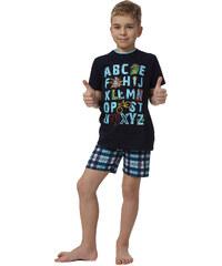 Pyžamo chlapecké Italian Fashion Jaś kr.r. kr.k., modrá - navy