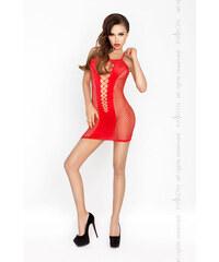 Erotické šaty Passion BS027 červená, červená